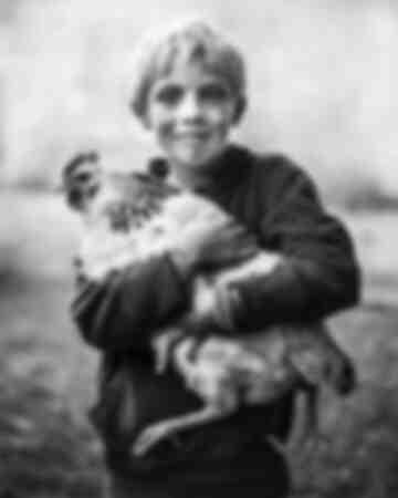 Sacha and his hen