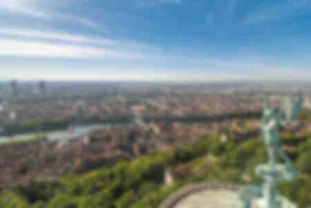 Tolles Panorama von Lyon