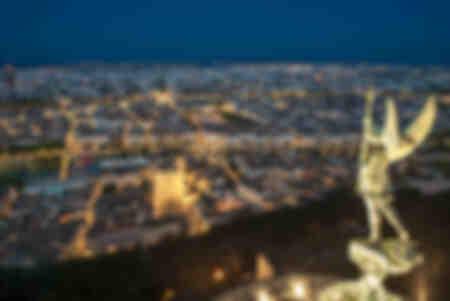 Panorama von Lyon bei Nacht