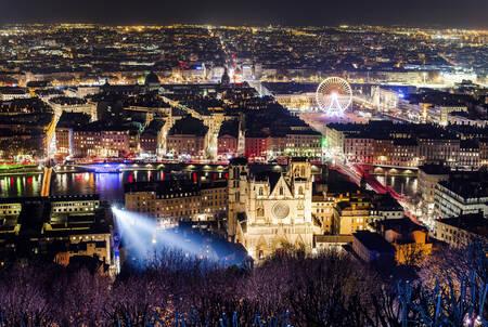 Panorama City of Lyon 8 December