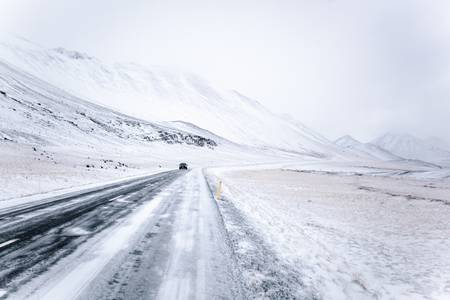 sur la route islandaise