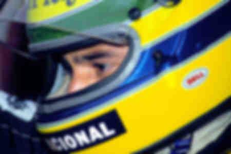 Primo piano di Ayrton Senna Monaco 1986