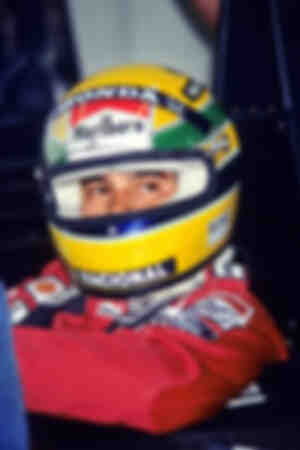 Ayrton Senna and his helmet - Phoenix 1990