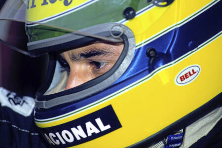 Ayrton Senna Monaco 1986 Close-up