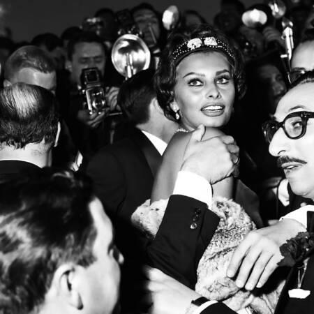 Sophia Loren en 1958 à Cannes