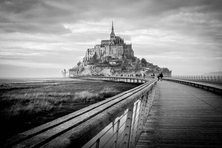 The road to the Mont Saint Michel
