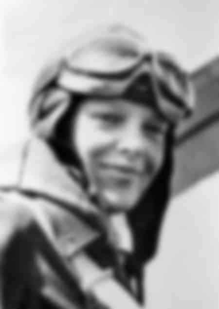 Amélia Earhart après son vol