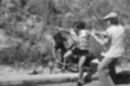 Chute lors du Tour de France 1977