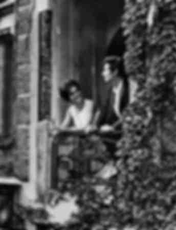 Dalida on her balcony