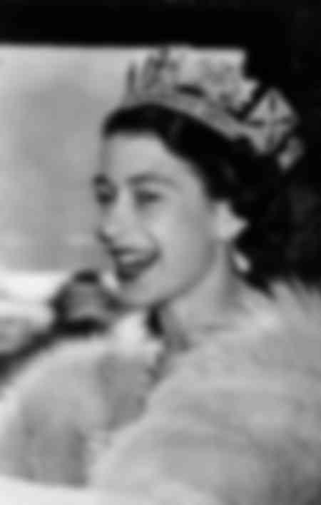 Drottning Elisabeth II omkring 1955