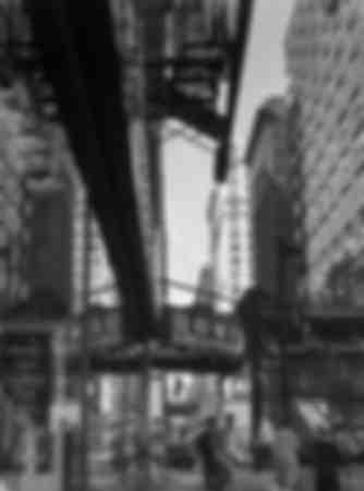 El metro aéreo de Chicago en 1937