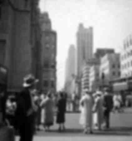 Caminata en la ciudad de Nueva York alrededor de 1937