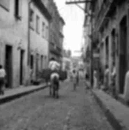 Rue de la ville haute à Bahia en 1957