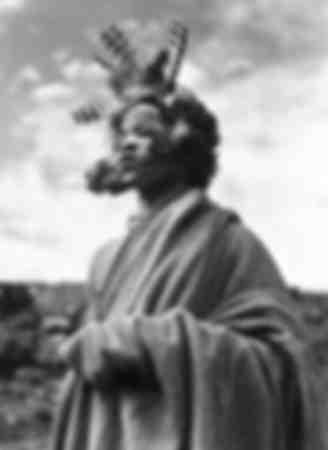 Zulu witch covered figure