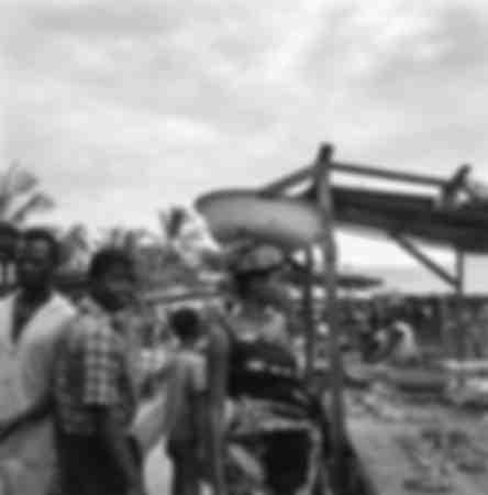Op de markt van Moungali in Brazzaville in 1966