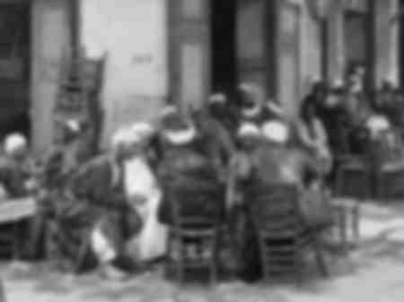 Terrazza del caffè in Egitto intorno al 1900