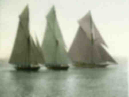 Barche a vela da regata a Nizza intorno al 1890
