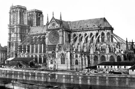 The Notre-Dame Cathedral circa 1855