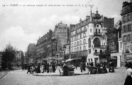 Le Moulin-Rouge vers 1900