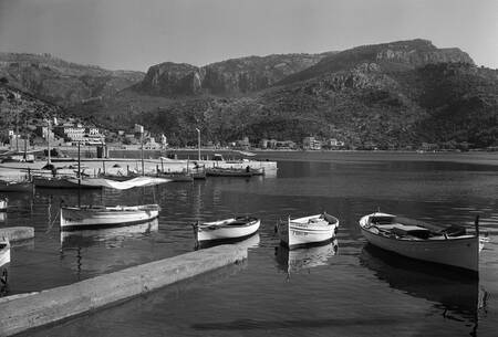 The port of Soller Majorca 1956