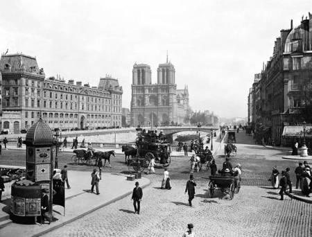 Paris Notre Dame et pont Saint Michel