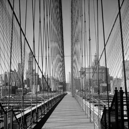 Attraversamento pedonale del ponte di Brooklyn