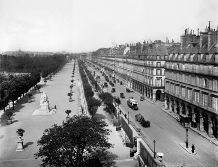 Rue de Rivoli et jardin des Tuileries