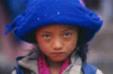 Fillette d'ethnie Tamang