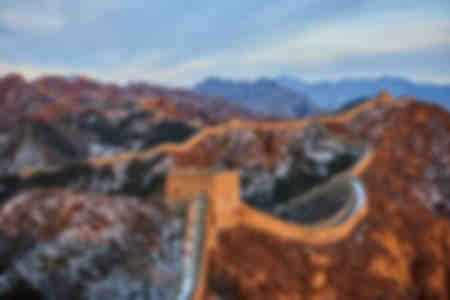 La grande muraille de Chine entre Jinshanling et Simatai