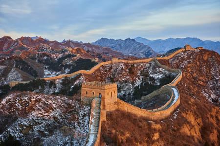 The Great Wall of China between Jinshanling and Simatai