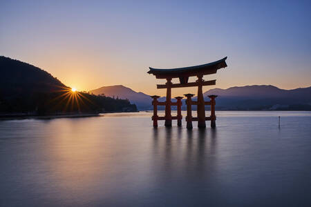 The floating torii of Itsukushima Shrine