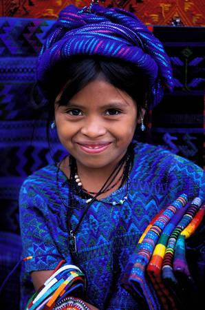 Portrait d'une jeune guatémalienne