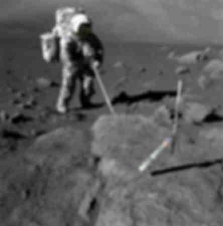Astronaut geologist Harrison Schmitt