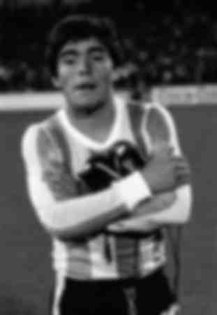 Diego Maradona in the Holland v Argentina 1979 Match