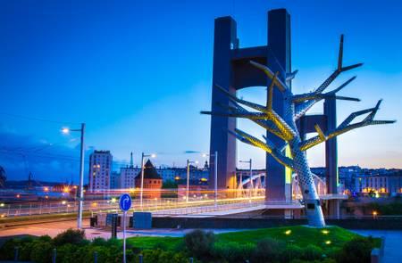 Brest et le pont de recouvrance