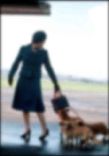 Queen Elizabeth II at Aberdeen Airport