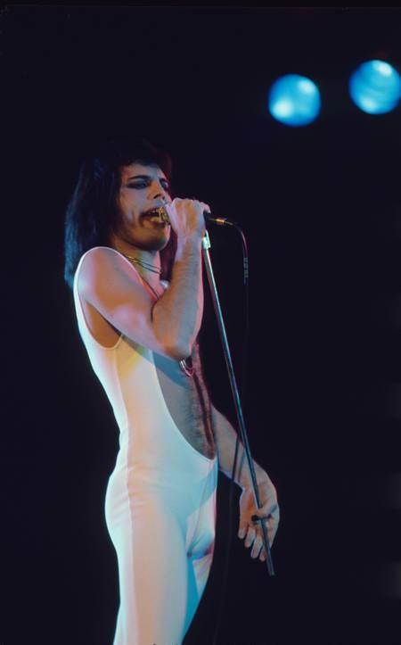 Freddie Mercury à Londres en 1976