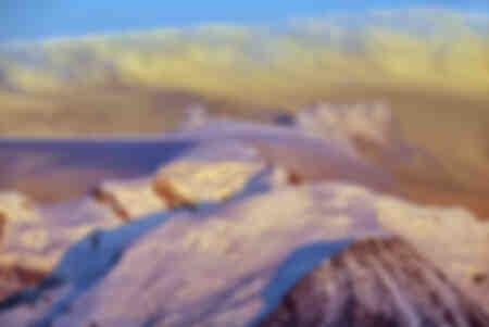 Stormachtige schemering over de Mont Blanc
