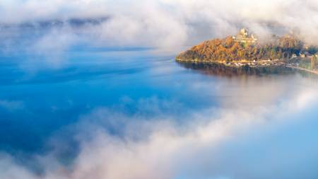Autumn mists on Lake Bourget
