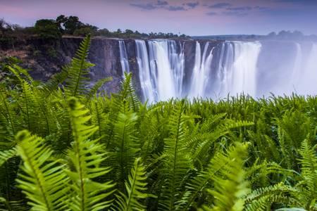 Victoria Falls at the end of the rain season