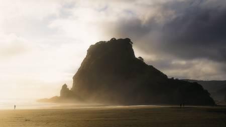 Coucher de soleil sur le Lion's Rock