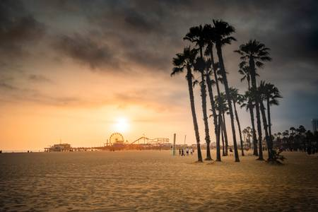 Sunset on Santa Monica