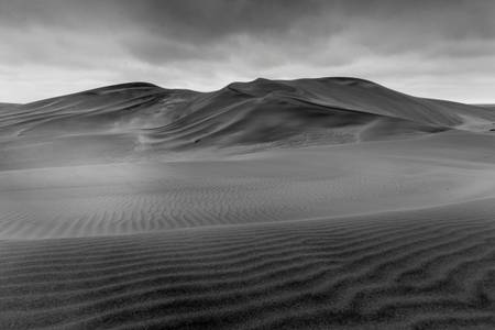 Namib Desert under a cloudy sky