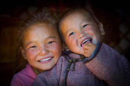 Les enfants de désert de Gobi