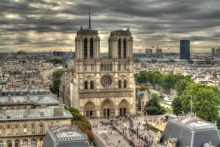 Panoramica di Notre-Dame de Paris