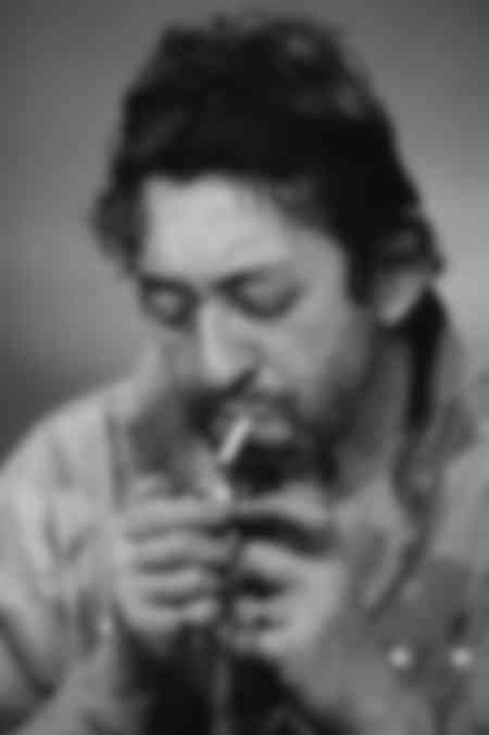 Serge Gainsbourg has a cigarette