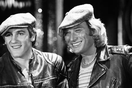Johnny Hallyday and Gerard Depardieu