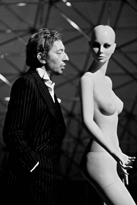 Serge Gainsbourg and the model