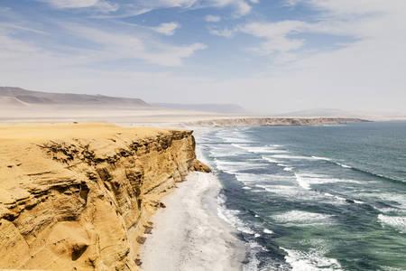 The beach of Paracas