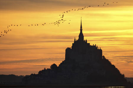 Silhouette of Mont Saint Michel